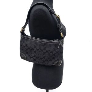 Coach Bleecker Logo Jacquard Small Shoulder Bag